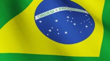 Brazilian Flag — Stock Video