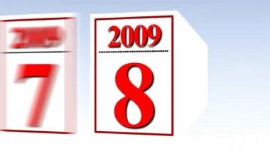 Kalender mit Seiten — Stockvideo