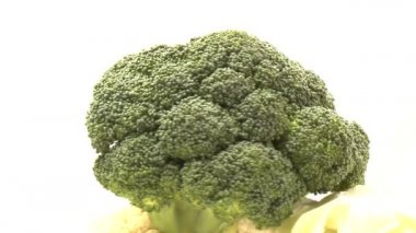 Rotary broccoli — Stock Video
