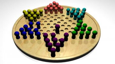 Chinese Checkers — Stock Video