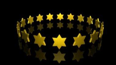 Stjärnor i svarvning — Stockvideo
