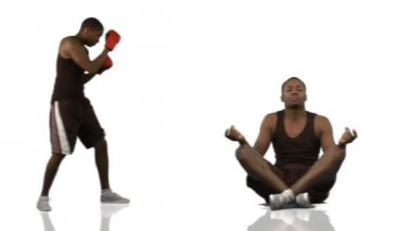 Animace etnické chlapce dělat různé sporty ve vysokém rozlišení — Stock video