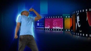 有吸引力的人唱歌的动画 — 图库视频影像