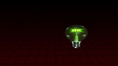 Animation of a light bulb announcing the year 2010 — Vídeo Stock