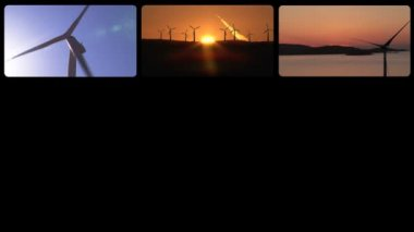 3D montage the wind power — Stock Video