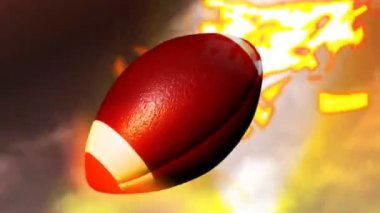 3d American Football — Stock Video
