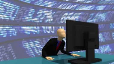 Animation showing a 3d-man celebrating — Stock Video