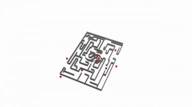 Moving money maze — Stock Video