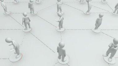 Animación que representa a un grupo de hombres 3d — Vídeo de stock