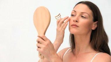 Beautiful woman smilling — Stock Video