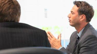 Meeting between businesspeople — Stock Video