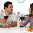 Couple have romantic dinner — Stok Video #15460095