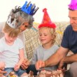Family on Birthday — Stock Video #15534497