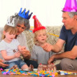 Family on birthday - Stock Photo