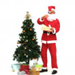 Santa Claus with presents - Stock Photo