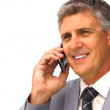 Businessman taking a phone call — Stock Video