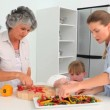 Family cooking together — Stock Video #15543747
