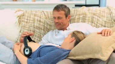 Future parents having a rest — Stock Video #15543697