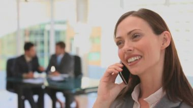 Woman dressing in a business suit — Stock Video