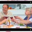Montage of drinking wine — Stock Video