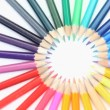 Royalty-Free Stock Vector Image: Color pencils joined at the top rotating