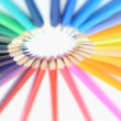 Color pencils rotating - ストック写真