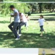 Montage of families spending time together — Vídeo de stock