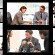 Montage of business in different situations — Vidéo