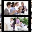 Montage of business in different situations — Stok video
