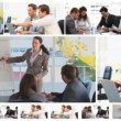 Royalty-Free Stock Vector Image: Montage of business meetings