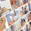 Montage of couple sharing moments together about pregnancy — 图库视频影像