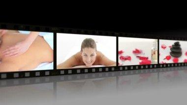 Montage van vrouwen ontspannen — Stockvideo