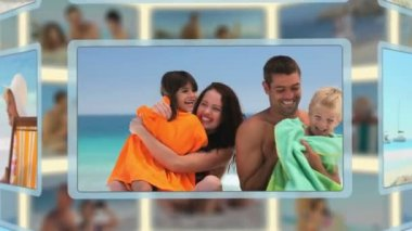 Montage of families and couples enjoying moments together — Vídeo de stock