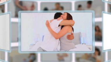 Montage of couple enjoying pregnancy moments together — Stock Video