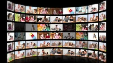Montage illustrating the educational system — Stockvideo