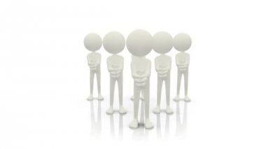 Animatie van witte silhouetten hun handen klappen — Stockvideo