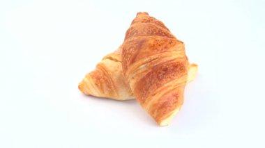 Croissants rotating — Stock Video