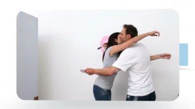 Montage of happy couples — Stock Video