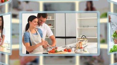Montage van in de keuken — Stockvideo