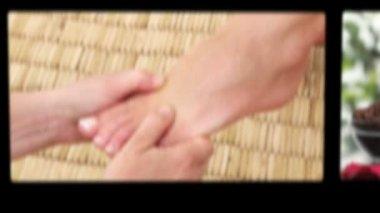 Montagem das mulheres terem tratamento spa — Vídeo stock