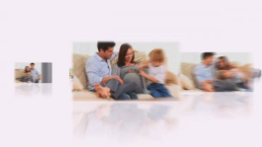 Montage of families sharing pregnancy moments together — Vídeo de stock