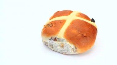 Hot cross bun rotating — Stock Video