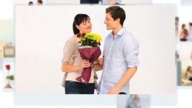 剪辑的可爱夫妇 — 图库视频影像
