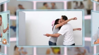 Montage of lovely couples sharing and enjoying different kinds of moments together — Stock Video