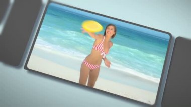 Montage of young adults enjoying a moment on a beach — Stock Video