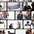 Montage of business exchanging — Stock Video