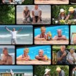 Montage of elderly couple spending time together — Stock Video