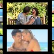 Montage of couples outdoors — Stock Video