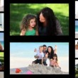 Montage of families spending time outside — Stock Video