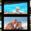Stock Video: Montage of active senior couples